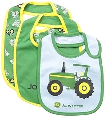 Amazon.com: John Deere Baby-Boys Newborn Tractor Bib Set ...