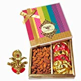 Chocholik Combo Treat Of Rocks & Almonds With Ganesha Idol - Chocholik Dry Fruits