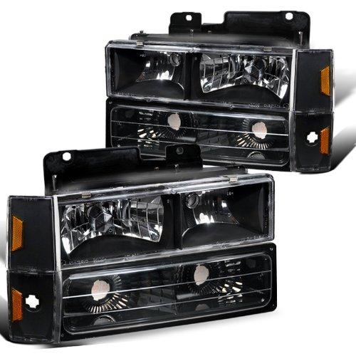 Gmc Full Size Truck Black Headlights, Bumper Lights, Corner Lights