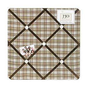 Chocolate Teddy Bear Fabric Memory/Memo Photo Bulletin Board