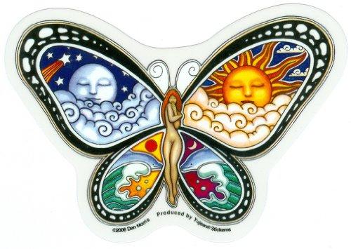 "DAN MORRIS LOVE METAL KEYCHAIN SUN MOON FLOWER KEY RING SIZE:2.25/"" X 1.5/"" NEW"