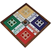 "Set Of 4 - Wooden Ludo Magnetic Board And Pieces Set - Board Game For Gifts - Gifts For BirthDay - 10.2"" X 10.2"""