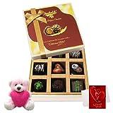 Colorful Treat Of Dark Choco Treat With Teddy And Love Card - Chocholik Luxury Chocolates