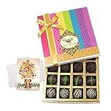 Chocholik Luxury Chocolates - Dark Truffle Best Collection With Birthday Card