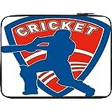 Snoogg Cricket Logo 12 To 12.6 Inch Laptop Netbook Notebook Slipcase Sleeve