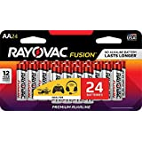 AA , 24 : RAYOVAC AA 24-Pack FUSION Advanced Alkaline Batteries, 815-24LTFUSJ