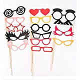 Christmas Decoration Colorful Photo Booth Props Set Of 50 Mustache On A Stick Wedding Party Photobooth Funny Masks...