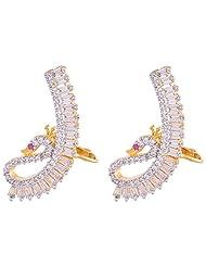 Ganapathy Gems Cz Designer Earing Clip On