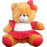 SONAL Guddy Bear For Kids In Red And Brown Color, Size-medium (One Piece)