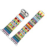 Apple Watch Band 38mm, Replacement Band Genuine Leather Iwatch Strap With Silver Metal Clasp For IWatch 38mm Colorful...