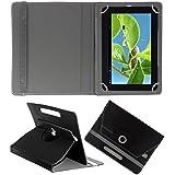 Acm Rotating 360° Leather Flip Case For Datawind Ubislate 9ci Tablet Stand Cover Holder Black