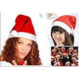 2x Christmas Holiday Party Santa Claus Velvet Hat Xmas Cap Gift Adult Unisex