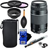 Canon EF 75-300mm F/4-5.6 III Telephoto Zoom Lens For Canon EOS Series Of Digital SLR Cameras + 10pc Bundle Deluxe...