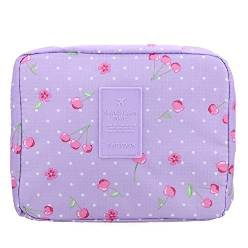 LAZYMARTS Portable Toiletry Cosmetic Bag Waterproof Makeup Make Up Wash Organizer Storage Pouch Travel Kit Handbag