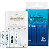 SANYO eneloop 残容量チェック機能付 急速充電器セット (単3・単4用充電器) N-MR58TGS