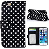4s Case,4s Leather Case, 4s Wallet Case,panycase 4s Leather Cover,iphone 4s Polka Dot Leather Case For Men