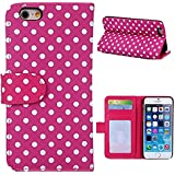 6s Plus Case,iphone 6s Plus Polka Dot Case,Thinkcase Polka Dot Card Slot Protective Pu Wallet Skin Cover Leather...