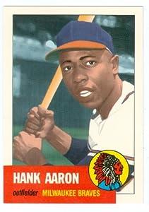 Amazon.com: Hank Aaron baseball card 1953 Topps Archives
