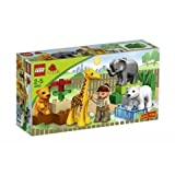 Game / Play LEGO Duplo Ville Baby Zoo V70 (4962). Toy Animals Keeper Plastic Vehicle Colorful Minifigure Toy /...