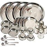 Shivom Stainless Steel Dinner Set Of 24 Pcs