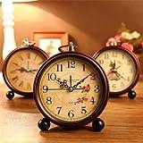 Sellify Generic Vintage Aralm Clock Table Desk Wall Clock Retro Rural Style Decorative Home Decor Clock