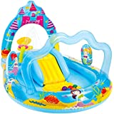 Intex Mermaid Kingdom Inflatable Play Center, 110 Inch X 63 Inch X 55 Inch, For Ages 2+, Blue