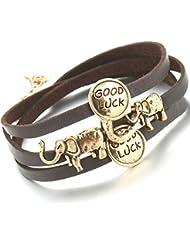 Hot And Bold Exquisite Gold Plated Multilayered Elephant & Good Luck Chram Bangles & Bracelets For Women & Men...
