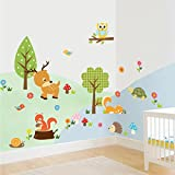 Judek Forest Wall Decorations And Art Stickers Nursery Cartoon Decor For Kids Girls And Boys