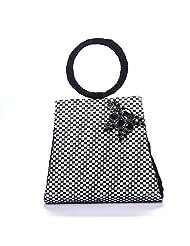Arisha Kreation Co Women Hand Bag (Black & White)