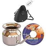 HealthAndYoga(TM) Pollen And Dust Allergy Protection Kit | Stainless Steel Neti Pot + 2-pack Anti-dust Mask Set...