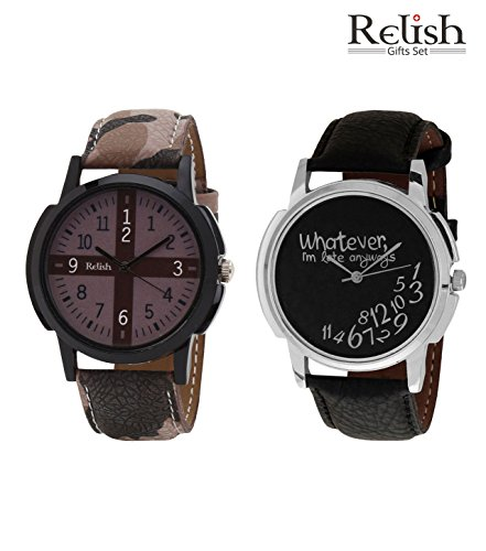 Relish Analog Round Casual Wear Watches For Men Combo - B016I3KYQW