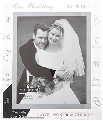 Malden Mirrored Glass Picture Frame, Our Wedding, 8