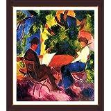 Couple At The Garden Table By Macke - ArtsNyou Printed Paintings - B00QA1CNUS