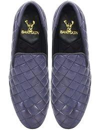 Purple Hand Finished Leather Diamond Stitched Slipon Shoe For Men By Bareskin /Designer Leather Shoe/Best Slipon...