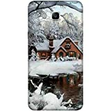 For Samsung Galaxy On8 Beautiful Home ( Beautiful Home, Ice, River, Ice Home, Tree, Beautiful Ice, Winter ) Printed Designer Back Case Cover By FashionCops