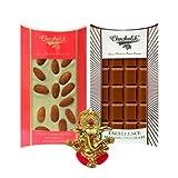 Chocholik Belgium Chocolate Gifts - Crunchy Combo Of Chocolate Bars With Ganesha Idol - Diwali Gifts