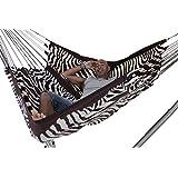 Arambol Hammocks Flying Carpet Original Zebra Print Cream White/ Dark Chocolate