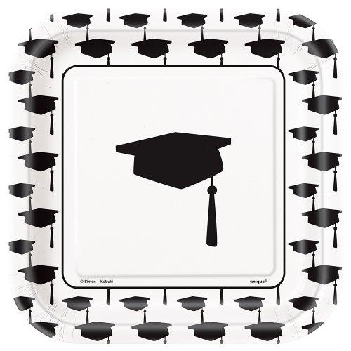 Square Classic Graduation Dessert Plates, 10ct