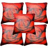 "Belkado Red Rose Cushion Cover Throw Pillow ( Multi Color, 12""x12"" ) - B00TPEMQYU"