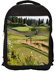 """Snoogg Abstract Golf Players Casual Laptop Backpak Fits All 15 - 15.6"""" Inch Laptops"""