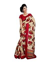 Anu Designer Self Print Saree (6410A_Multi-Coloured)