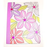 Carolina Pad Studio C Wide Ruled Composition Book ~ Whimsical Flower (Pink, Orange, Purple And Gray;