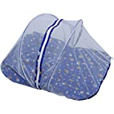 Jack & Jill Baby Bed With Mosquito Net Bed Bedding Set Baby Bed Baby Mattress With Zip Navy Blue - M