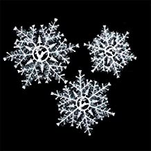 Alcoa Prime New 3Pcs Classic White Color Snowflake Ornaments Christmas Tree Party Decor Hanging Snow Flake With...