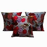Rastogi Handicraft Cotton Foxy Single Cushion Cover L: 41cms, W: 41cms - SET OF 5 CUSHION COVER