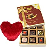 Valentine Chocholik's Luxury Chocolates - Dazzling Chocolate Collection With Heart Pillow