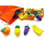 Fruit Counters & Sorting Set With Storage Tote Preschool Toys Mathematics Counting Fine Motor Basic Skills Montessori...