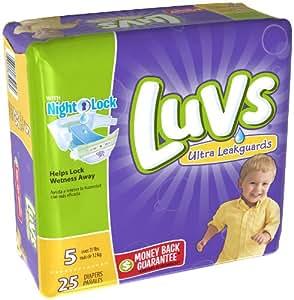 Amazon.com: Luvs Ultra Leakguards Size 5 Diapers - 25 CT ...
