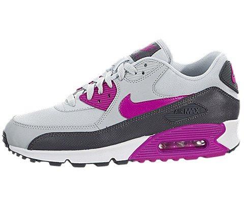 Nike Women's Air Max 90 Essential Pr Pltnm/Fchs Flash/Drk Gr