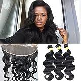 20\ 22\ 24+16\ Closure : Eayon Hair 7a Brazilian Virgin Hair 3 Bundles With Ear To Ear Lace Frontal Closure 13x4...